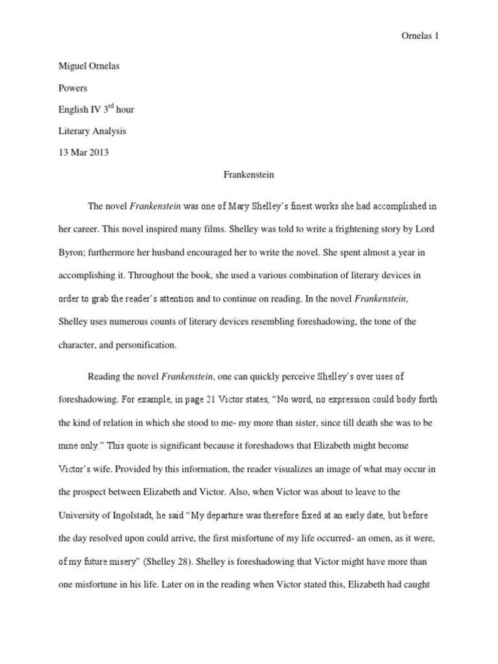 005 Outstanding Frankenstein Essay High Resolution  Critical Pdf Question Who I The Real MonsterLarge