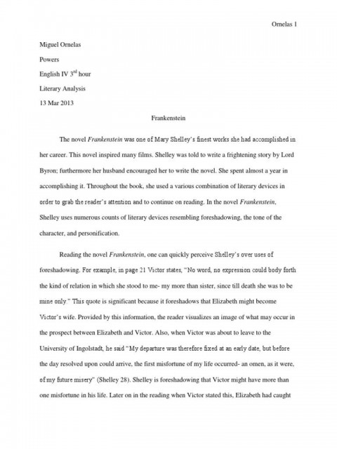 005 Outstanding Frankenstein Essay High Resolution  Critical Pdf Question Who I The Real Monster480
