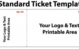 005 Outstanding Free Event Ticket Template Printable Sample