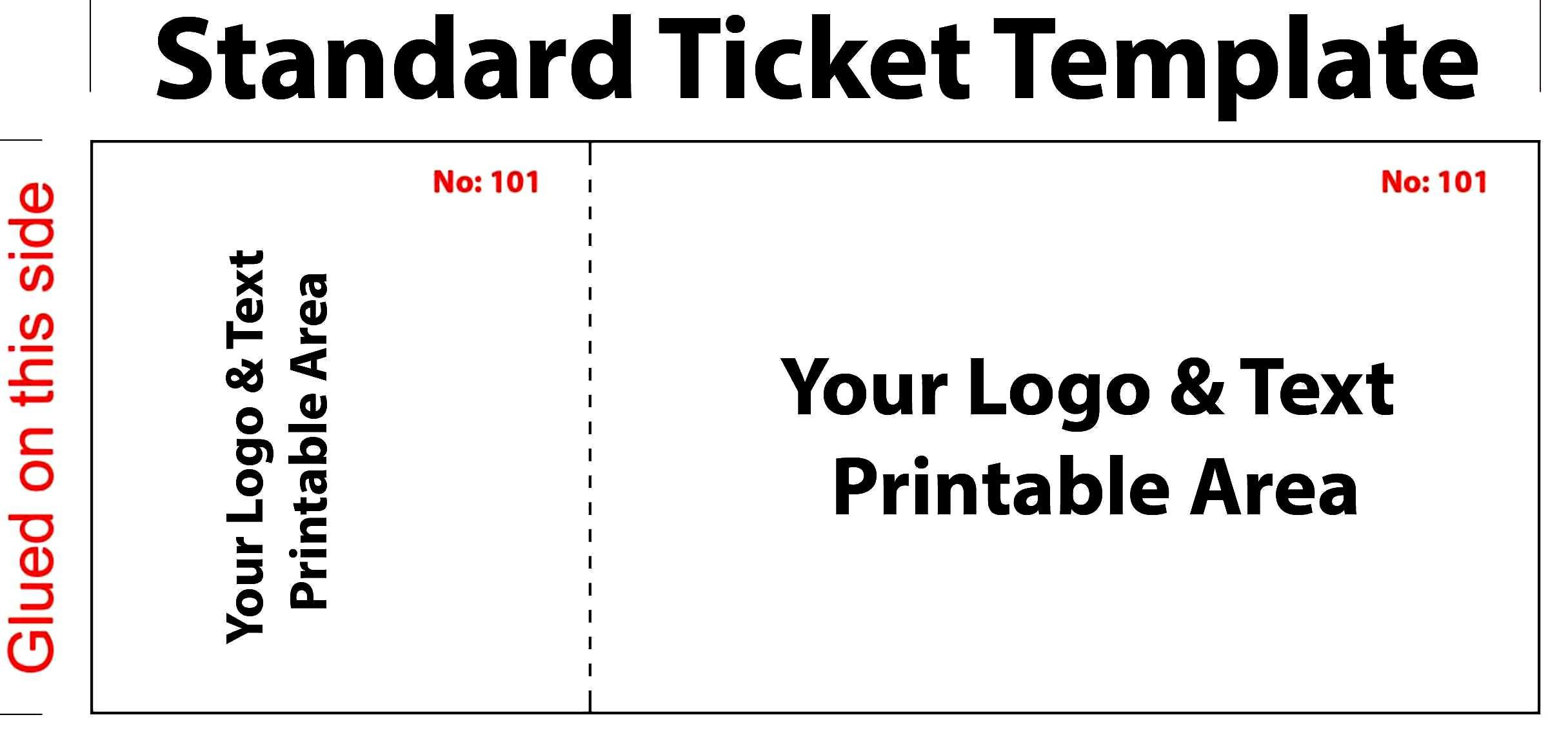 005 Outstanding Free Event Ticket Template Printable Sample Full