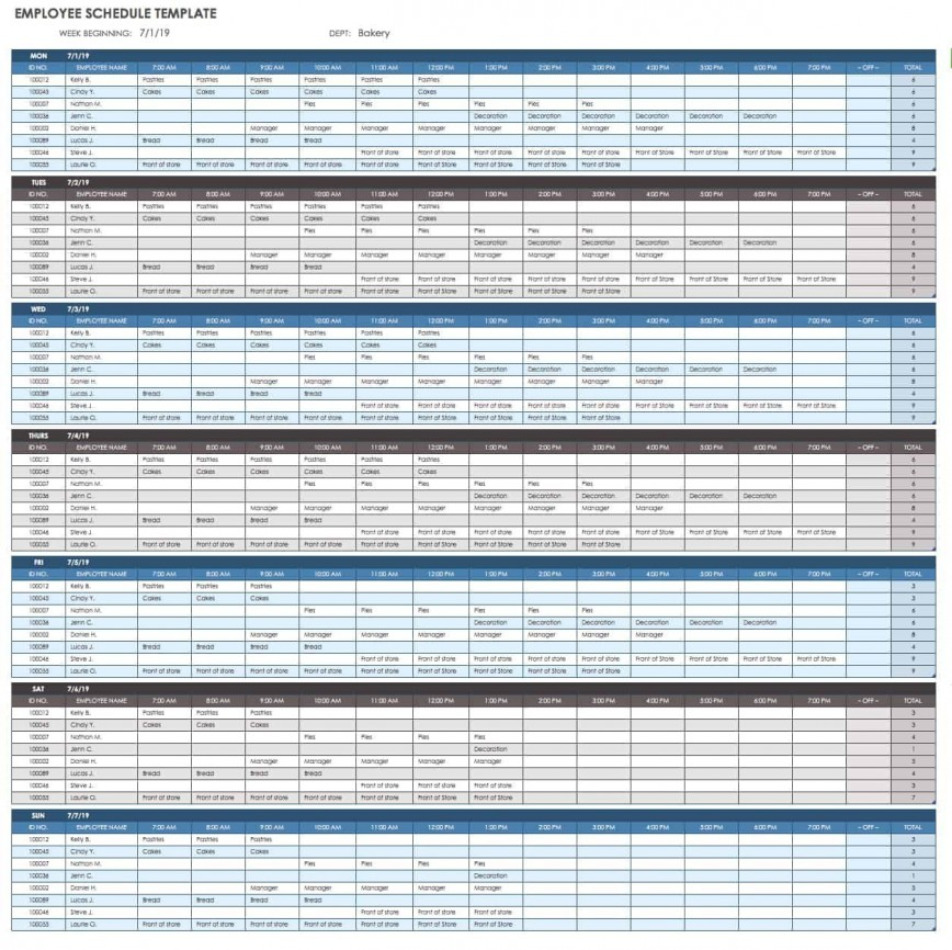 005 Outstanding Free Excel Monthly Employee Schedule Template Design  Download