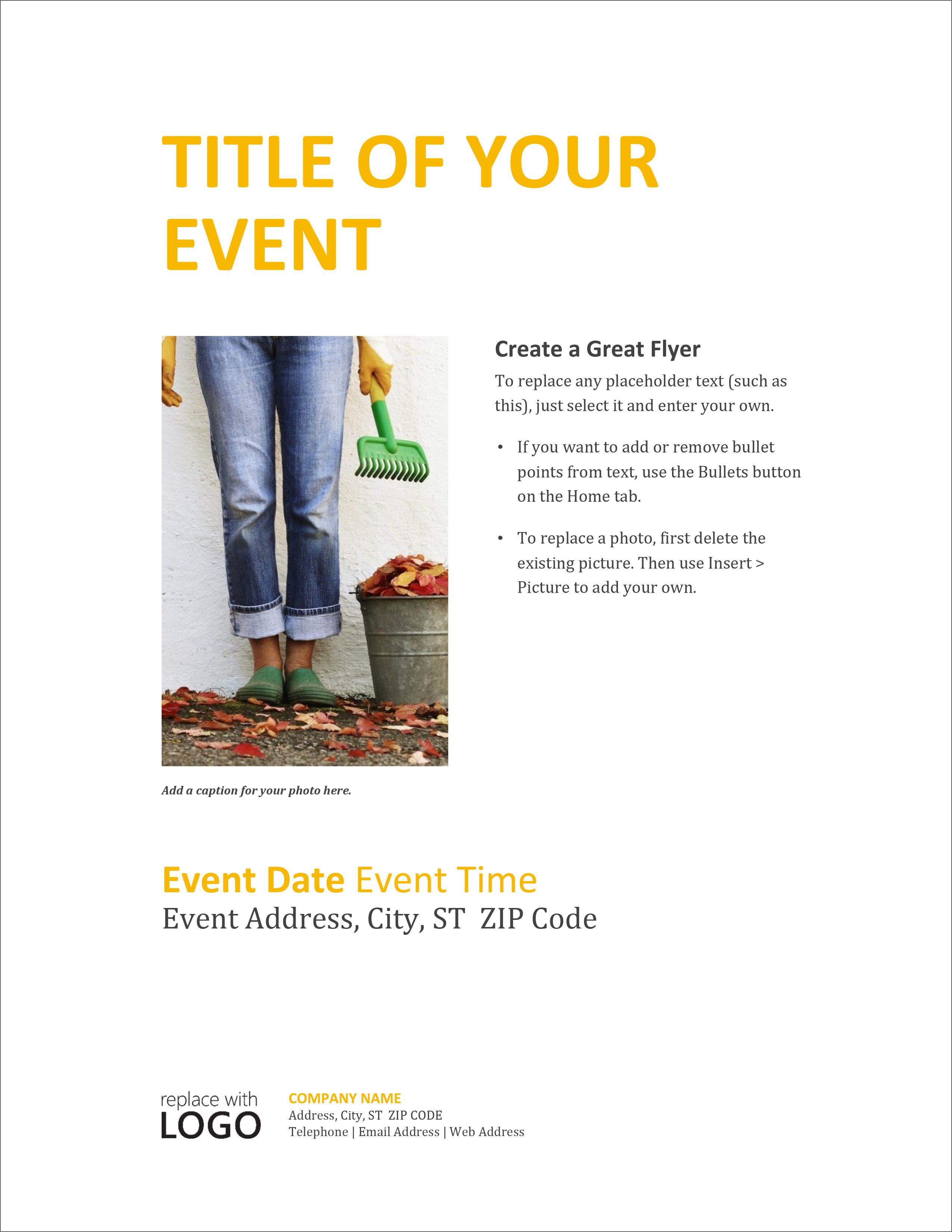 005 Outstanding Free Printable Event Flyer Template Example  Templates ChurchFull