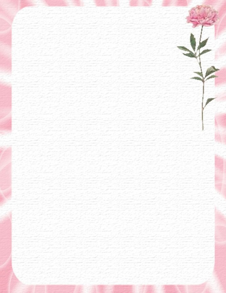 005 Outstanding Free Printable Stationery Paper Template High Def 728
