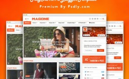 005 Outstanding Free Responsive Blogger Template One Column Example