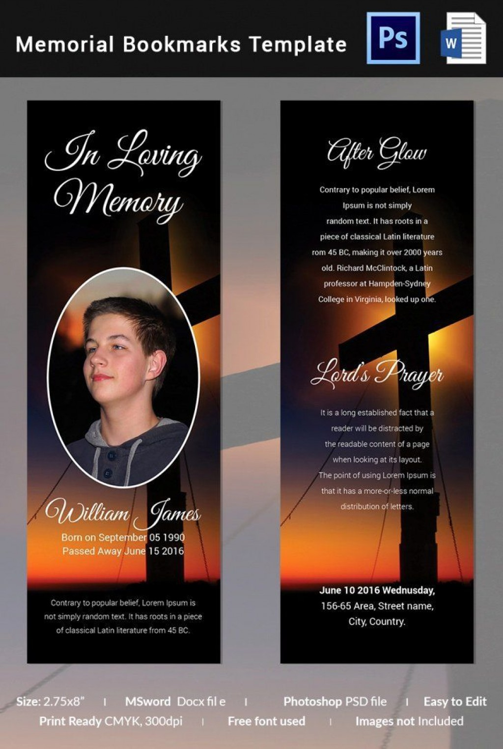 005 Outstanding Memorial Card Template Free Download Highest Clarity Large