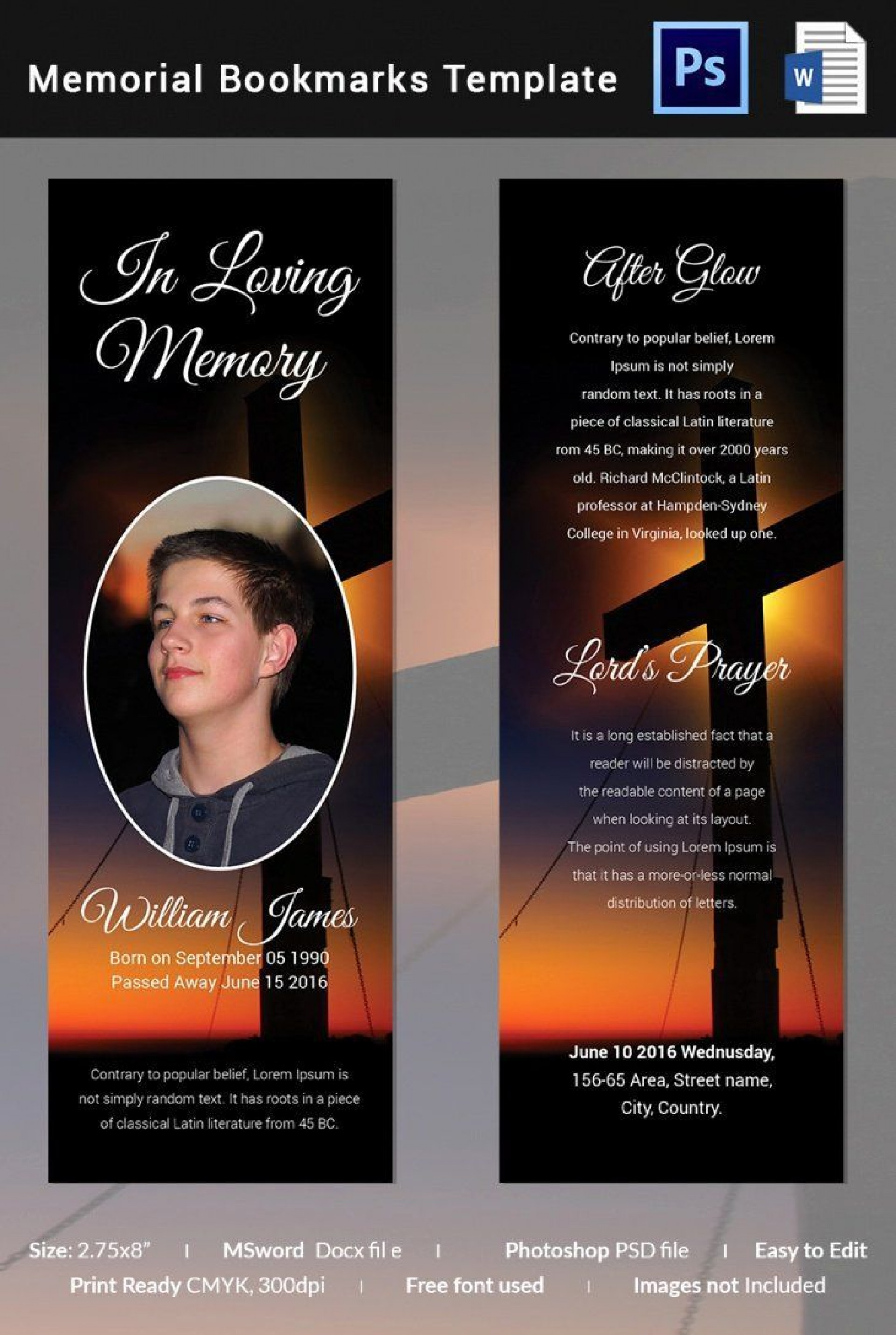 005 Outstanding Memorial Card Template Free Download Highest Clarity 1920