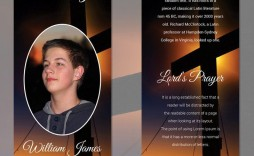005 Outstanding Memorial Card Template Free Download Highest Clarity