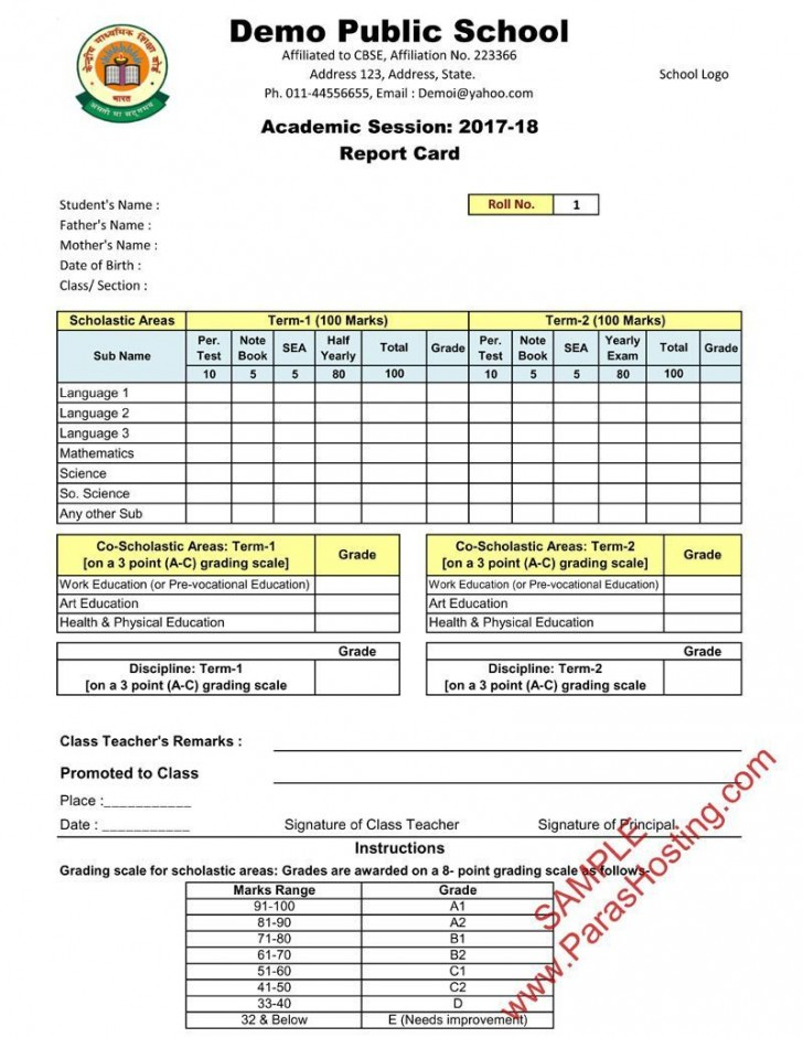 005 Outstanding Middle School Report Card Template Pdf High Def 728