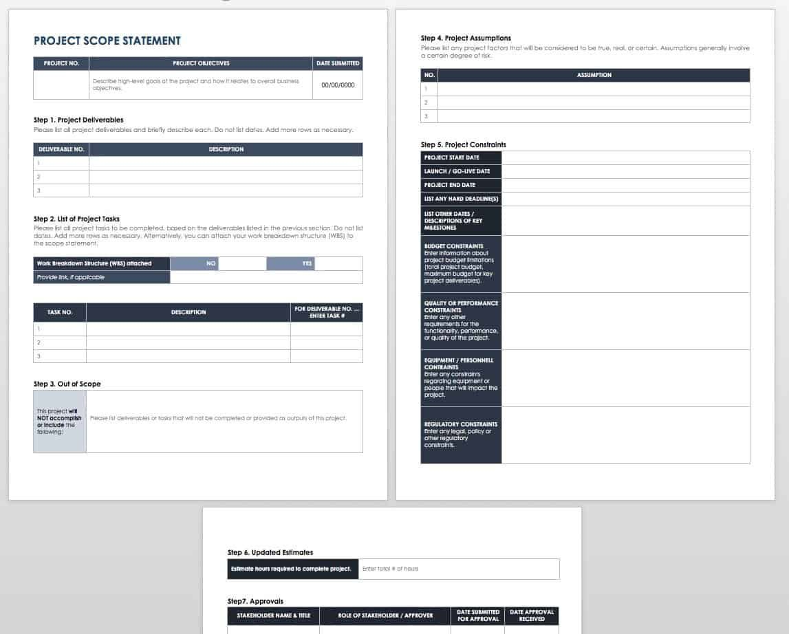 005 Outstanding Project Statement Of Work Template Doc High Def Full