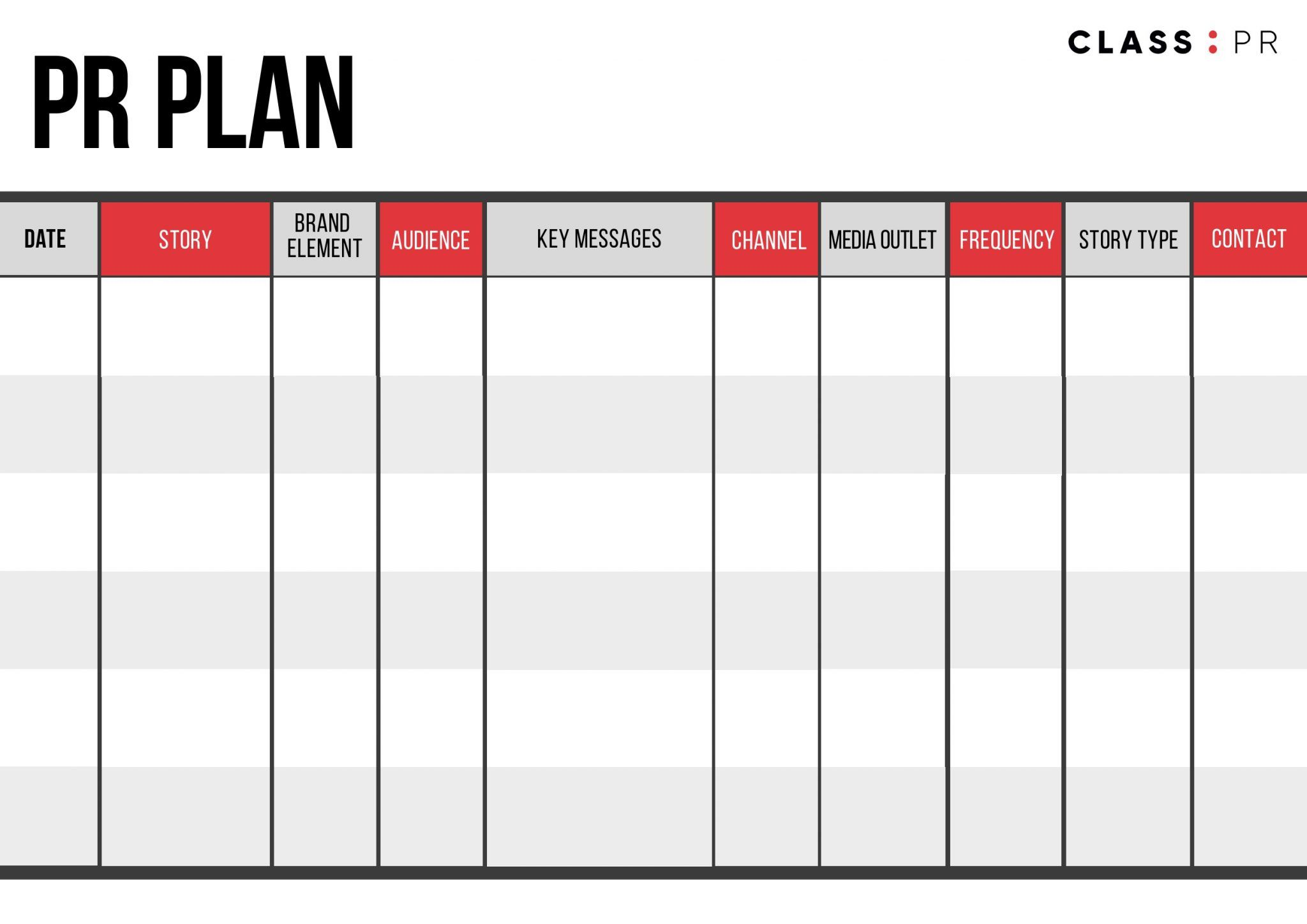 005 Outstanding Public Relation Strategy Plan Template Image  ExampleFull