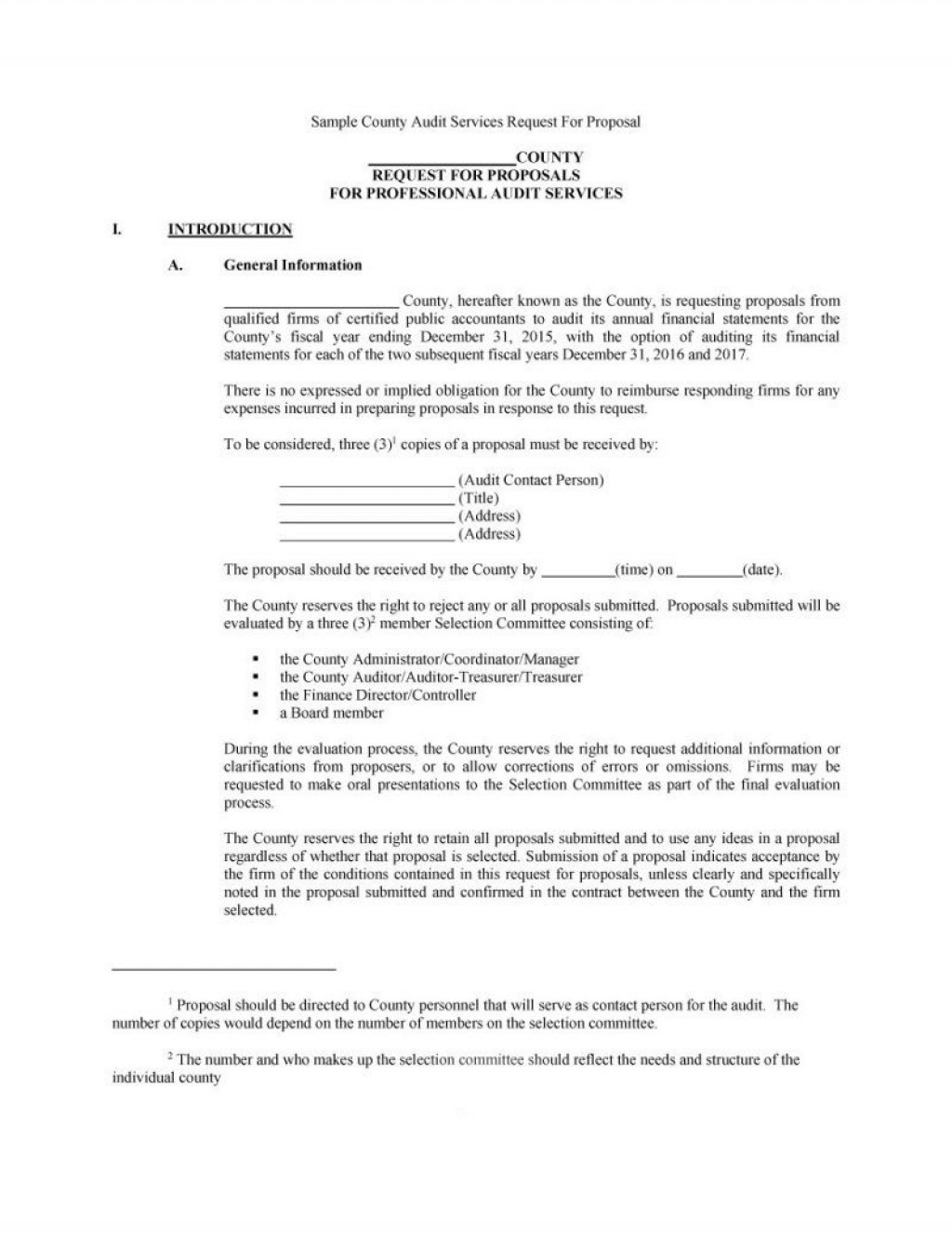 005 Outstanding Request For Proposal Rfp Template Construction Highest Quality Large