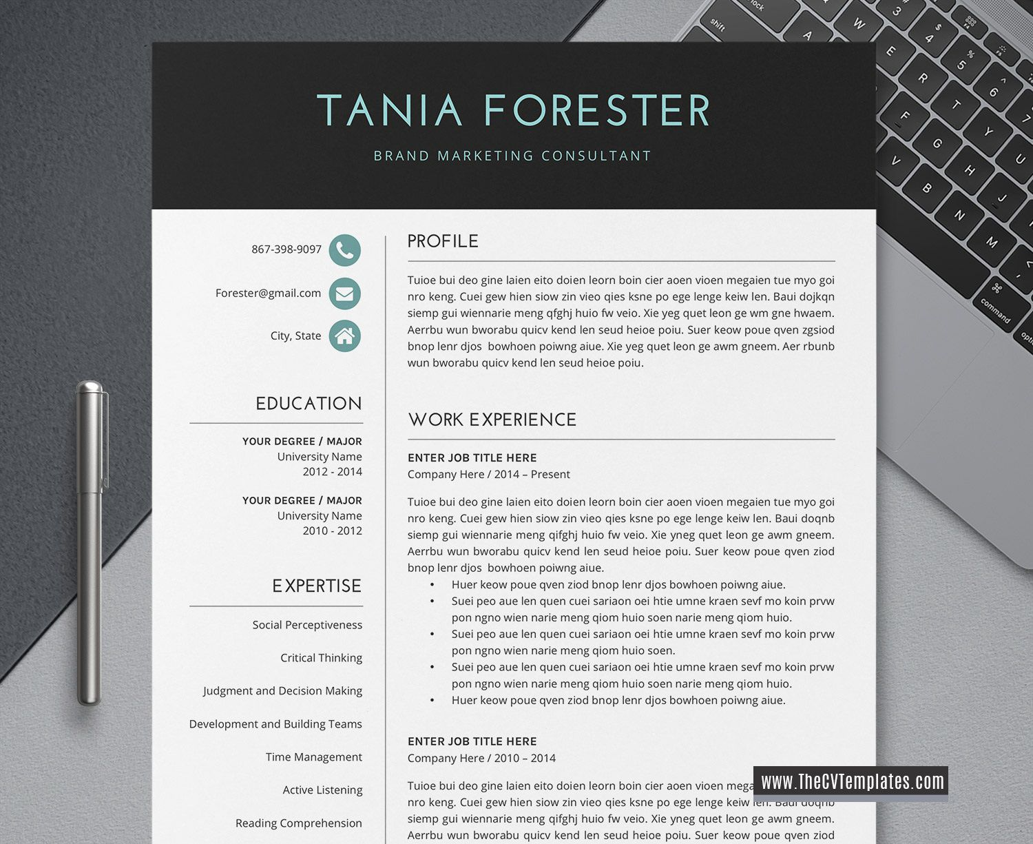 005 Outstanding Simple Professional Cv Template Word High Definition Full