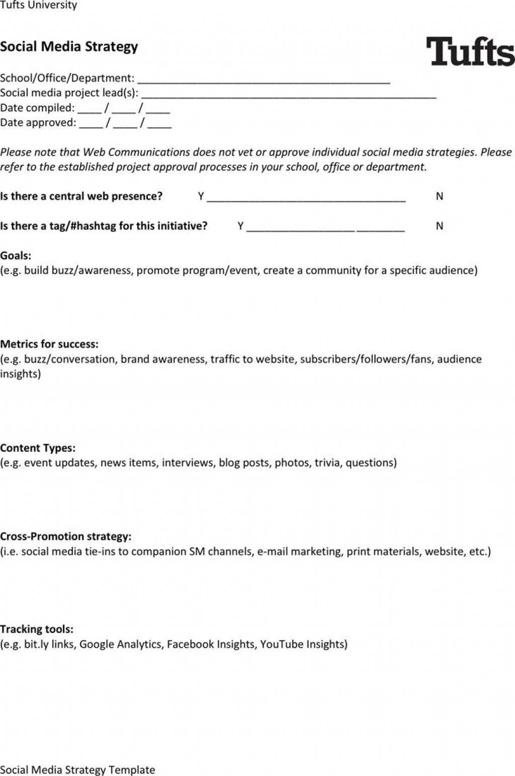 005 Outstanding Social Media Strategy Template Pdf Example  Sample ContentLarge