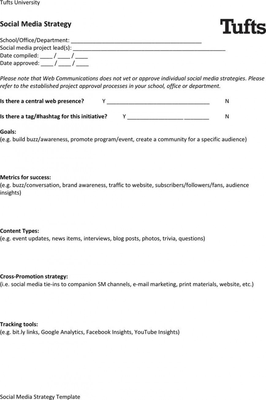 005 Outstanding Social Media Strategy Template Pdf Example  Marketing Plan Sample