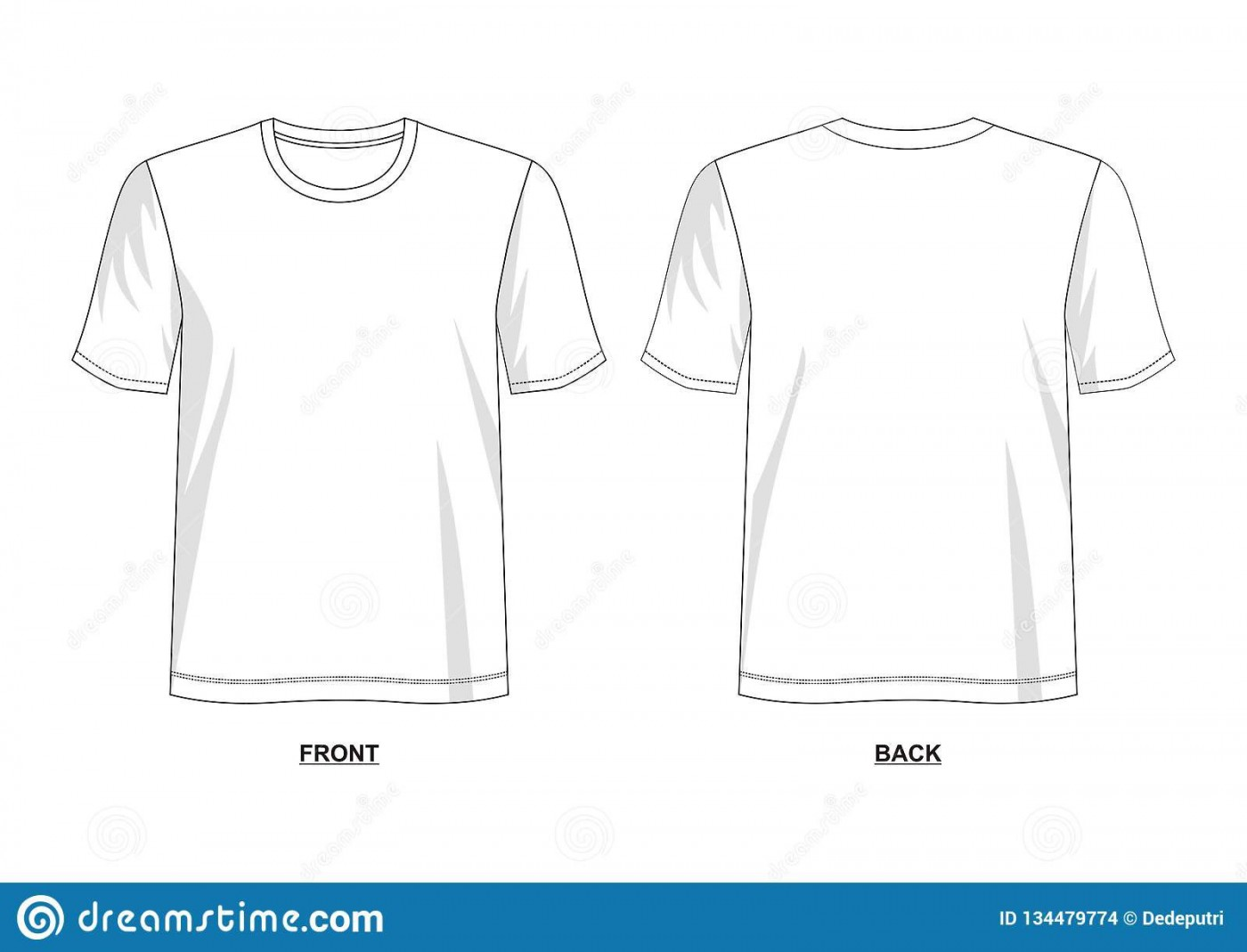 005 Outstanding T Shirt Template Vector Example  Illustrator Design Free Download Ai1400