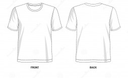 005 Outstanding T Shirt Template Vector Example  Black Front And Back Free Download Illustrator