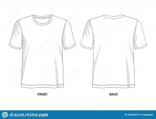 005 Outstanding T Shirt Template Vector Example  Illustrator Design Free Download Ai320