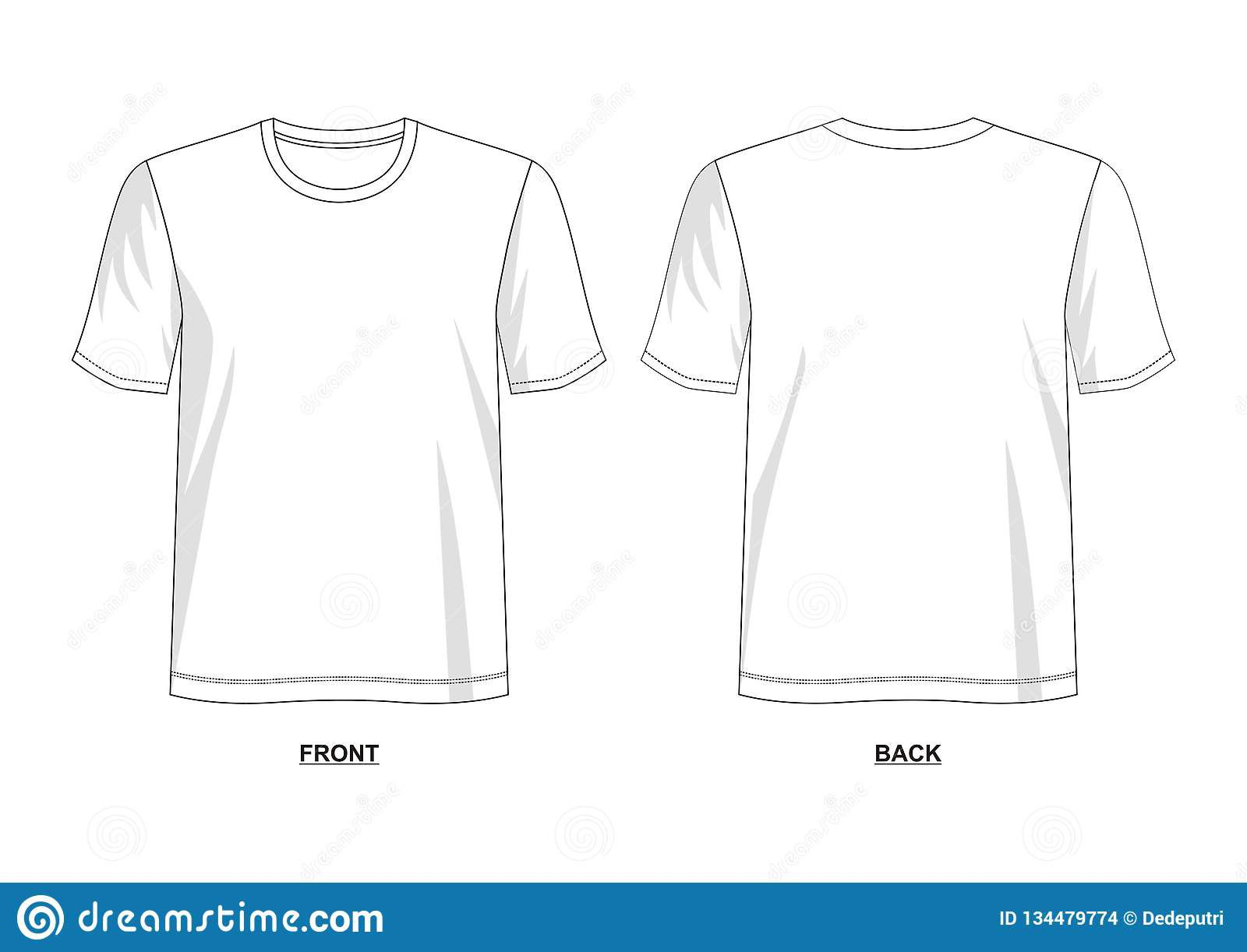005 Outstanding T Shirt Template Vector Example  Illustrator Design Free Download AiFull