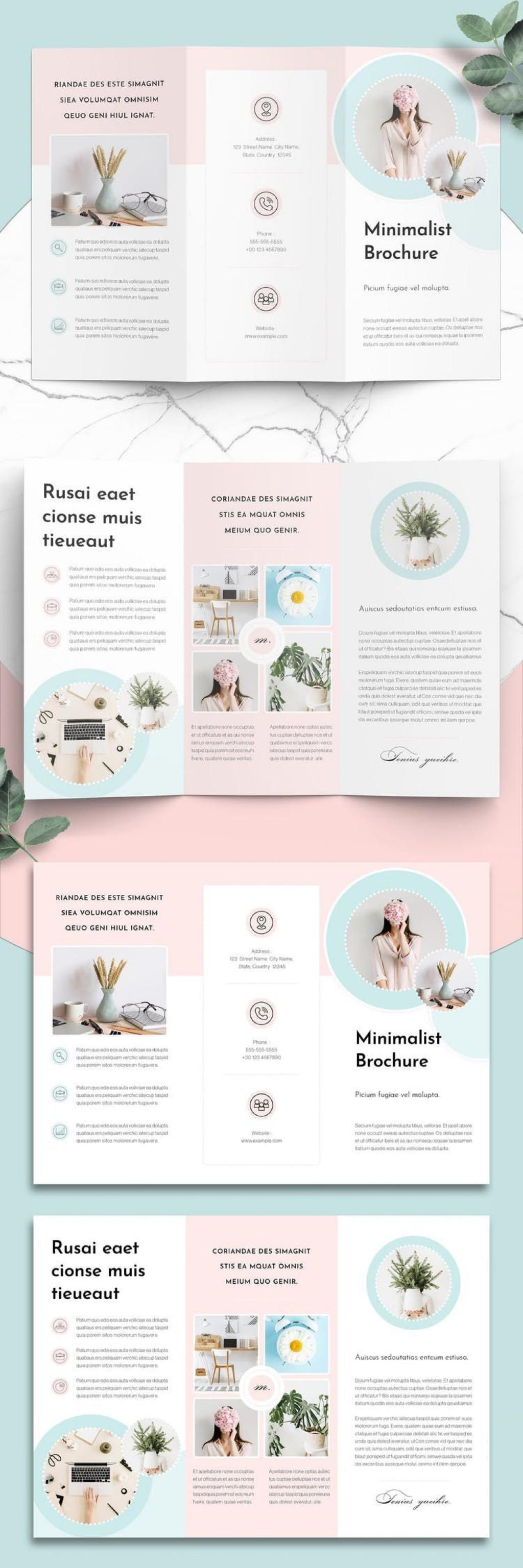 005 Outstanding Three Fold Brochure Template Indesign Picture  3 A4Large
