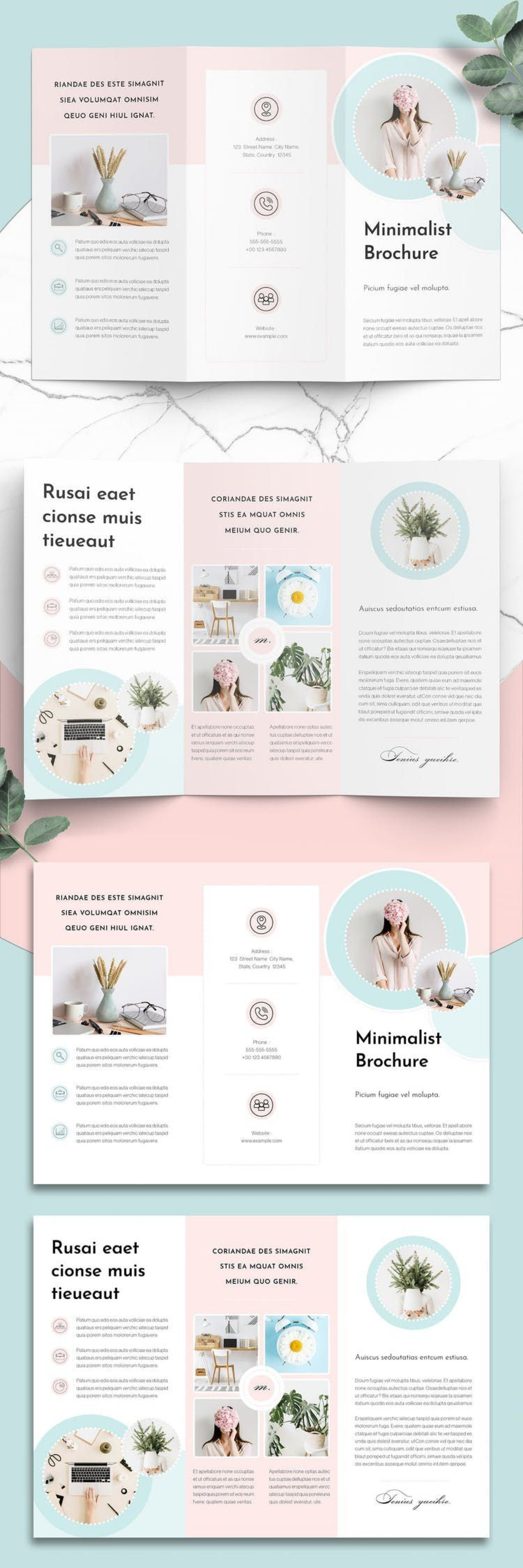 005 Outstanding Three Fold Brochure Template Indesign Picture  3 A41920