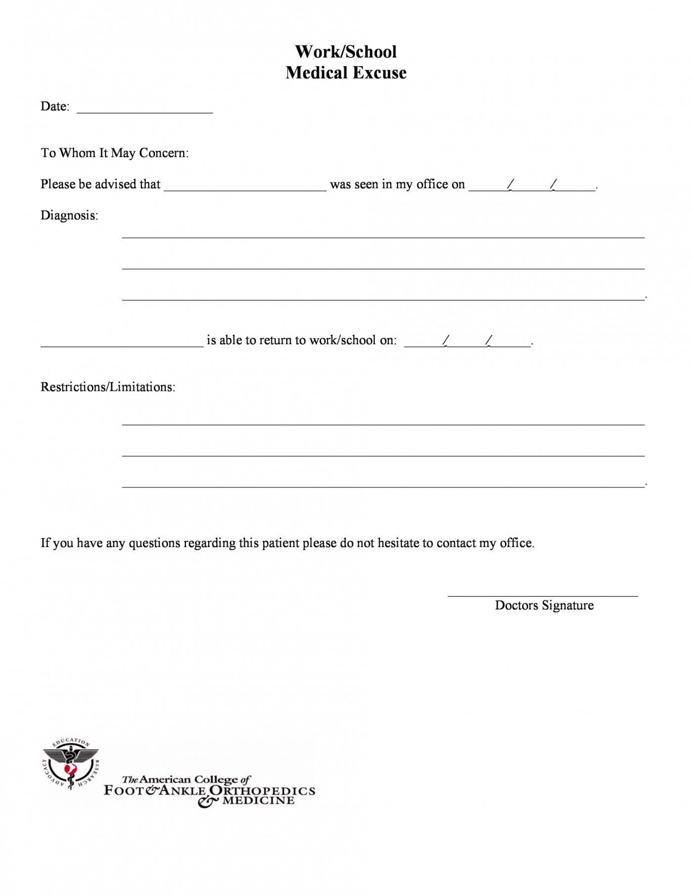 005 Outstanding Urgent Care Doctor Note Template High Definition  Sample Fake Doctor' Printable1400