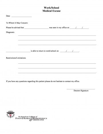 005 Outstanding Urgent Care Doctor Note Template High Definition  Sample Fake Doctor' Printable360