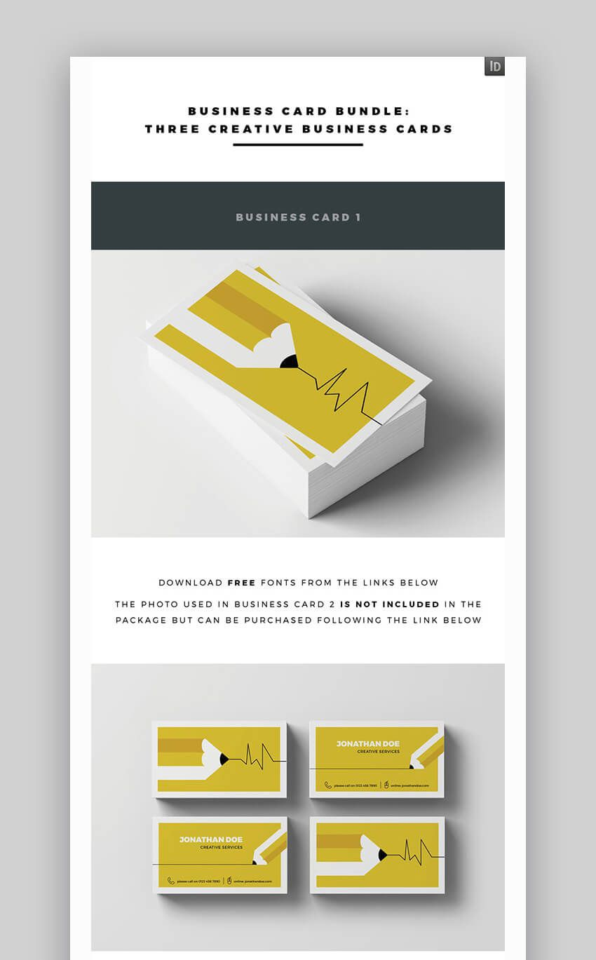 005 Phenomenal Busines Card Format Indesign Idea Full