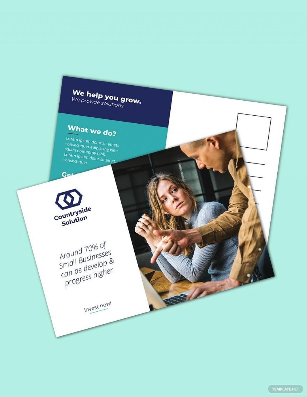 005 Phenomenal Busines Postcard Template Microsoft Word Highest Clarity Large