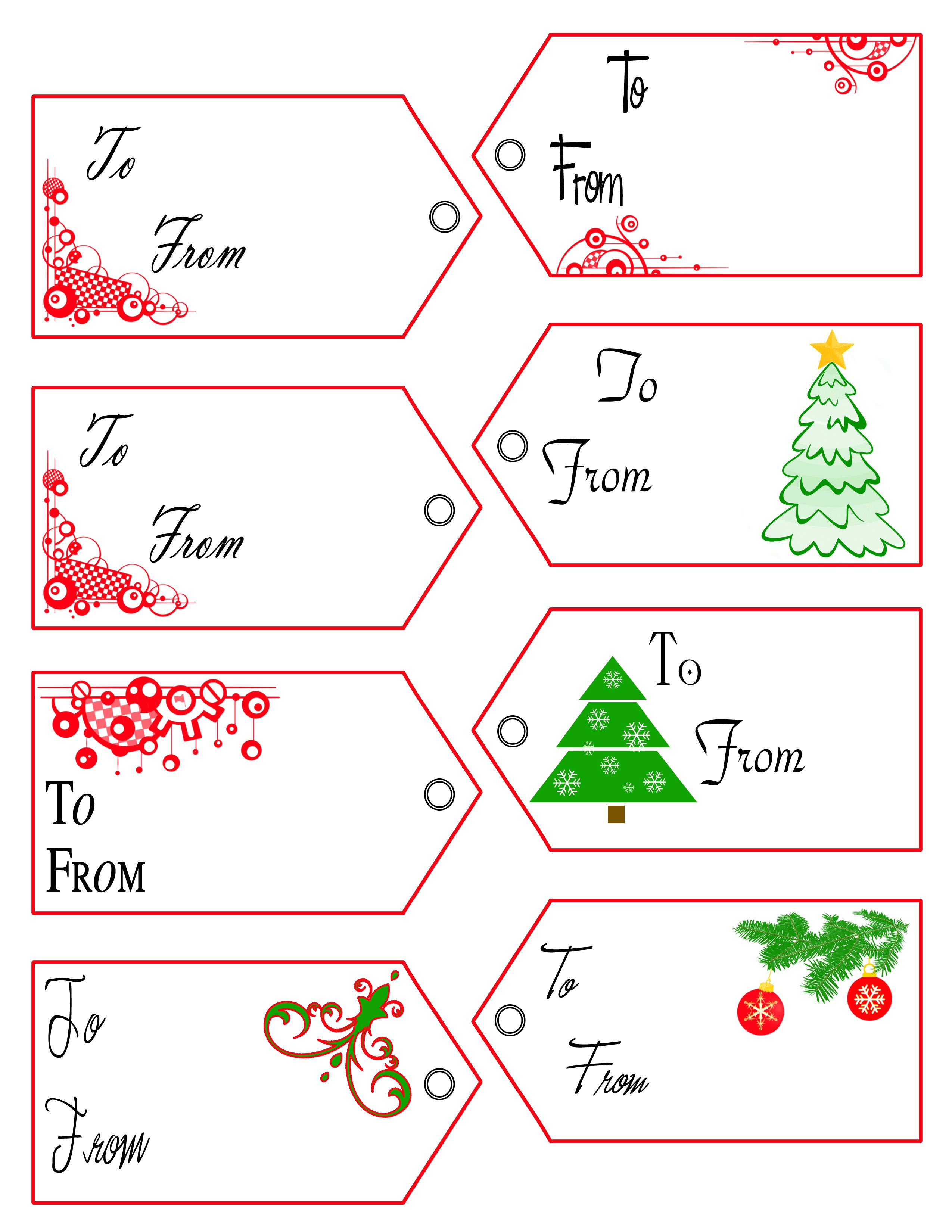 005 Phenomenal Christma Label Template Free High Resolution  Present Gift Tag Editable MailingFull