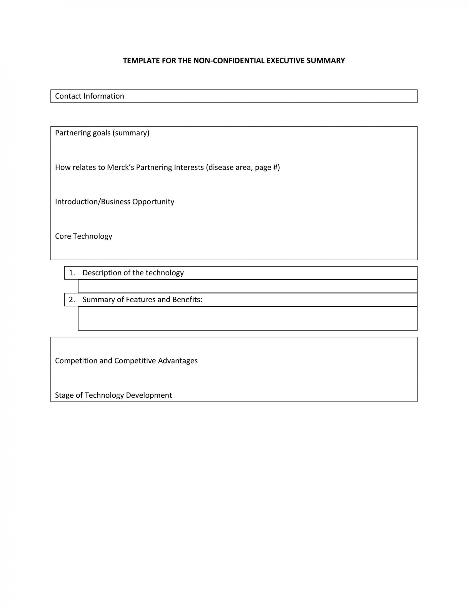 005 Phenomenal Executive Summary Report Word Template Example 1920