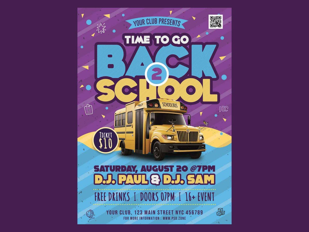 005 Phenomenal Free Back To School Flyer Template Psd Inspiration Large