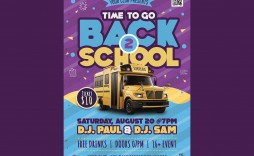 005 Phenomenal Free Back To School Flyer Template Psd Inspiration