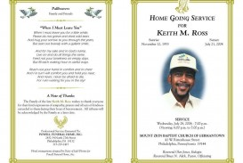 005 Phenomenal Free Download Template For Funeral Program Concept