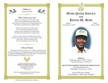 005 Phenomenal Free Download Template For Funeral Program Concept 360