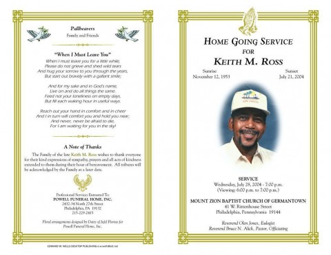 005 Phenomenal Free Download Template For Funeral Program Concept 480