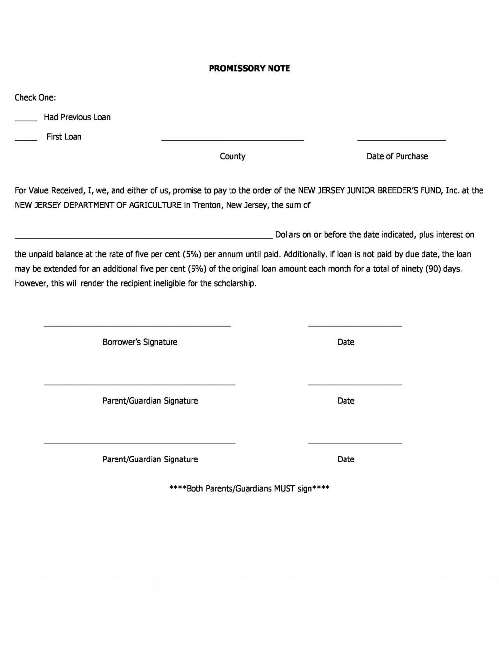 005 Phenomenal Free Promissory Note Template Word High Resolution  Microsoft DocumentLarge