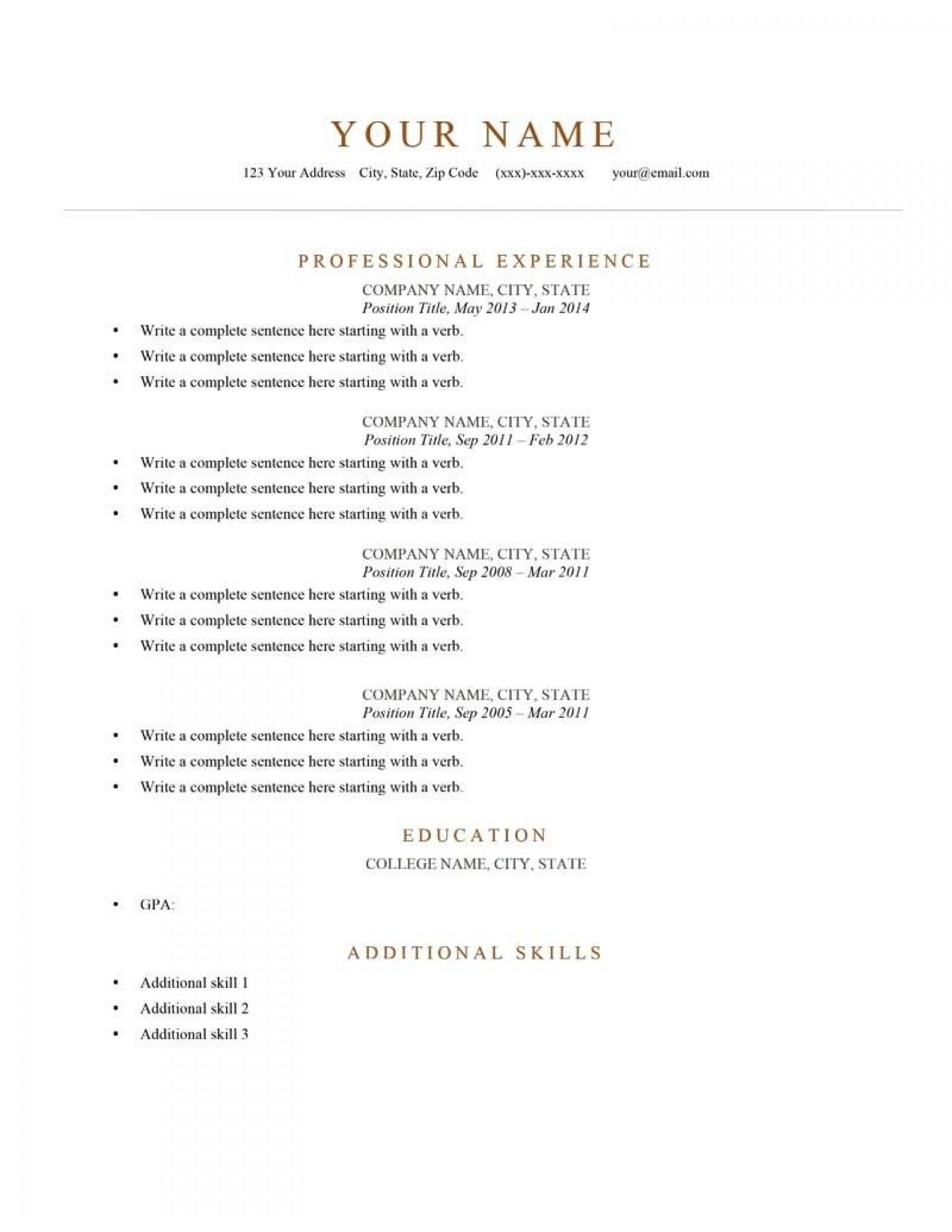 005 Phenomenal Free Resume Template 2018 Printable Concept 1920