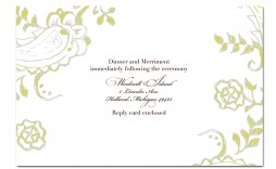 005 Phenomenal Funeral Invitation Template Free Highest Quality  Memorial Service Card Reception