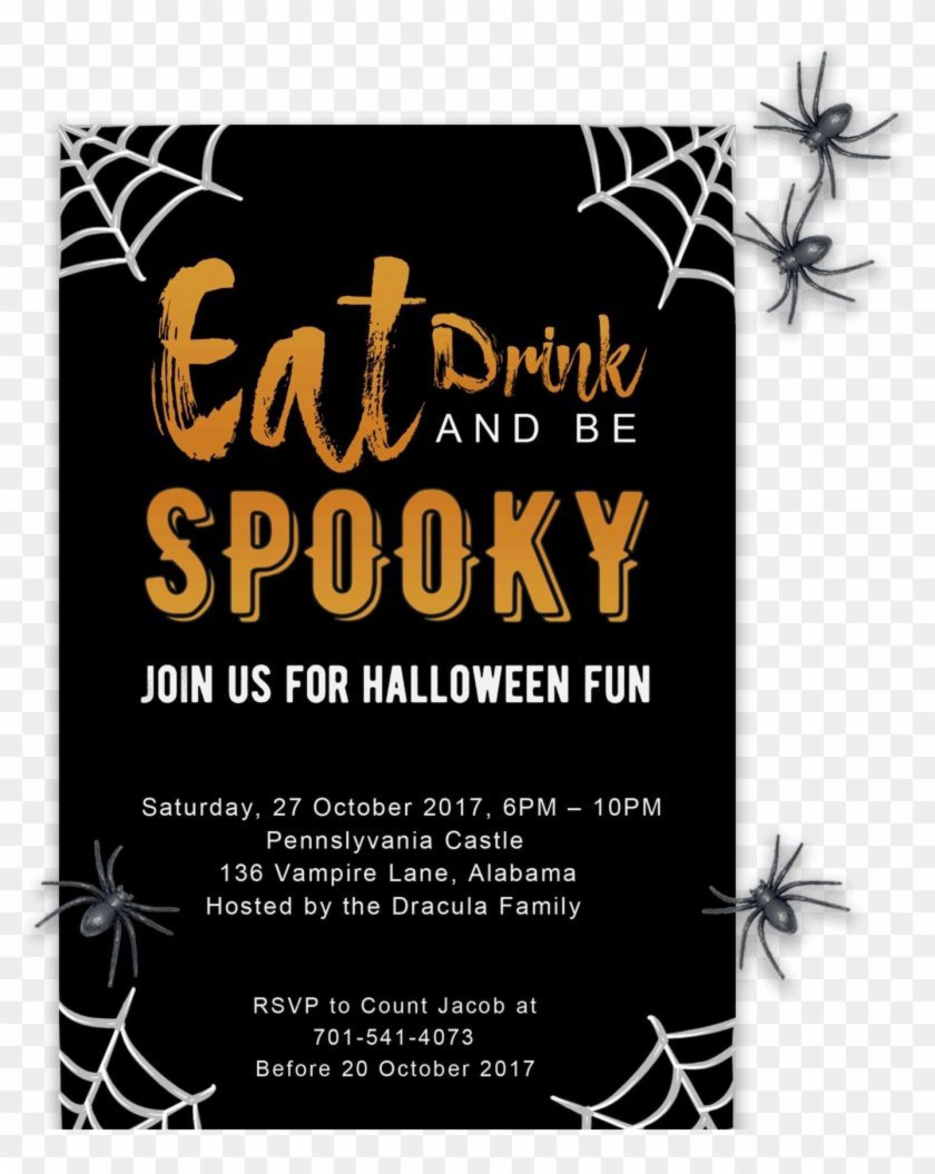 005 Phenomenal Halloween Invitation Template Microsoft Word Highest Clarity  Birthday Free1920