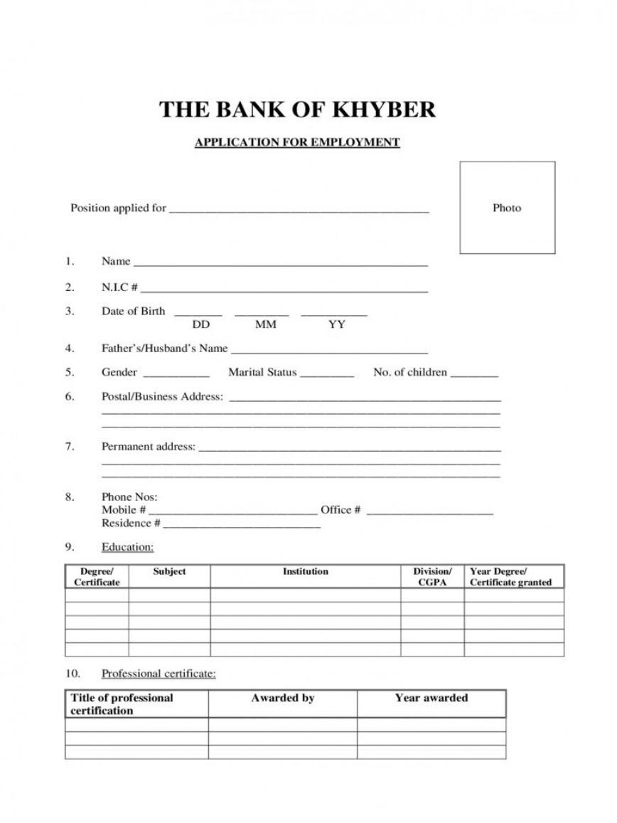 005 Phenomenal Job Application Template Word Example  Document Employment Free