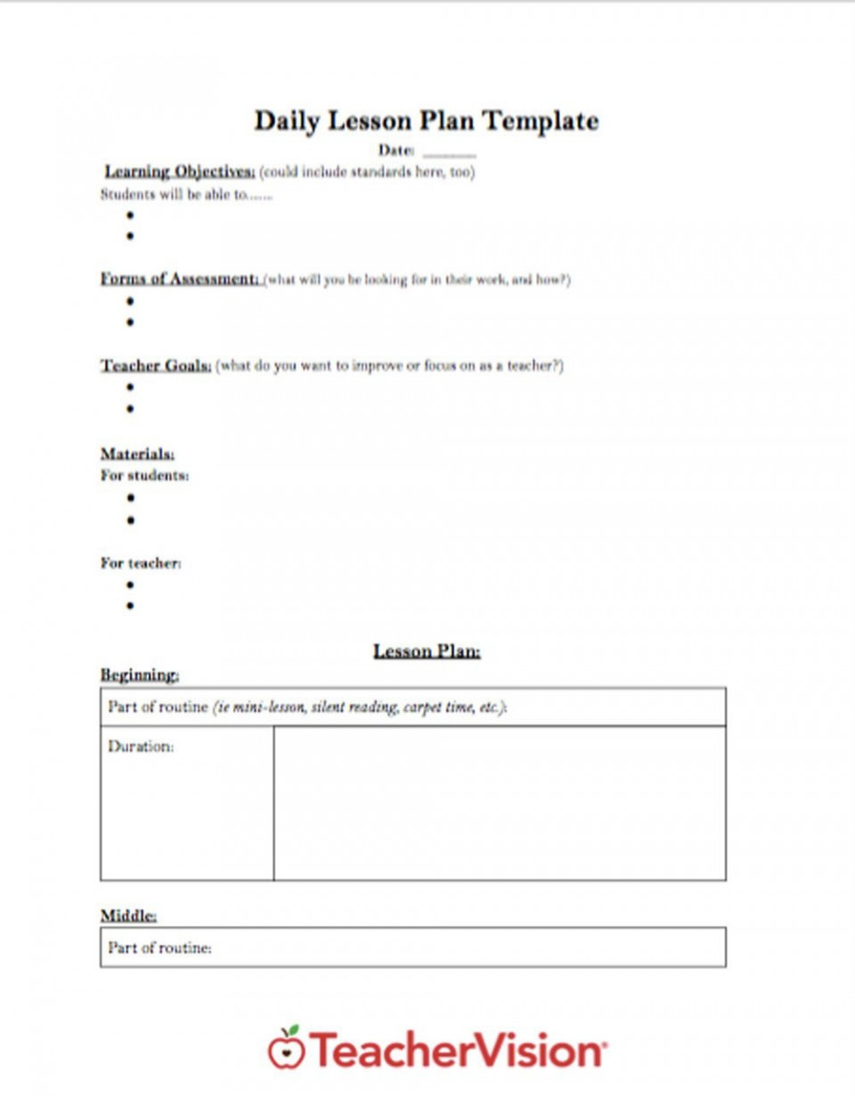 005 Phenomenal Lesson Plan Outline Template High Resolution  Sample Format Pdf Blank Free Printable960