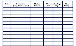 005 Phenomenal Mileage Log Printable Template Example  Book Excel