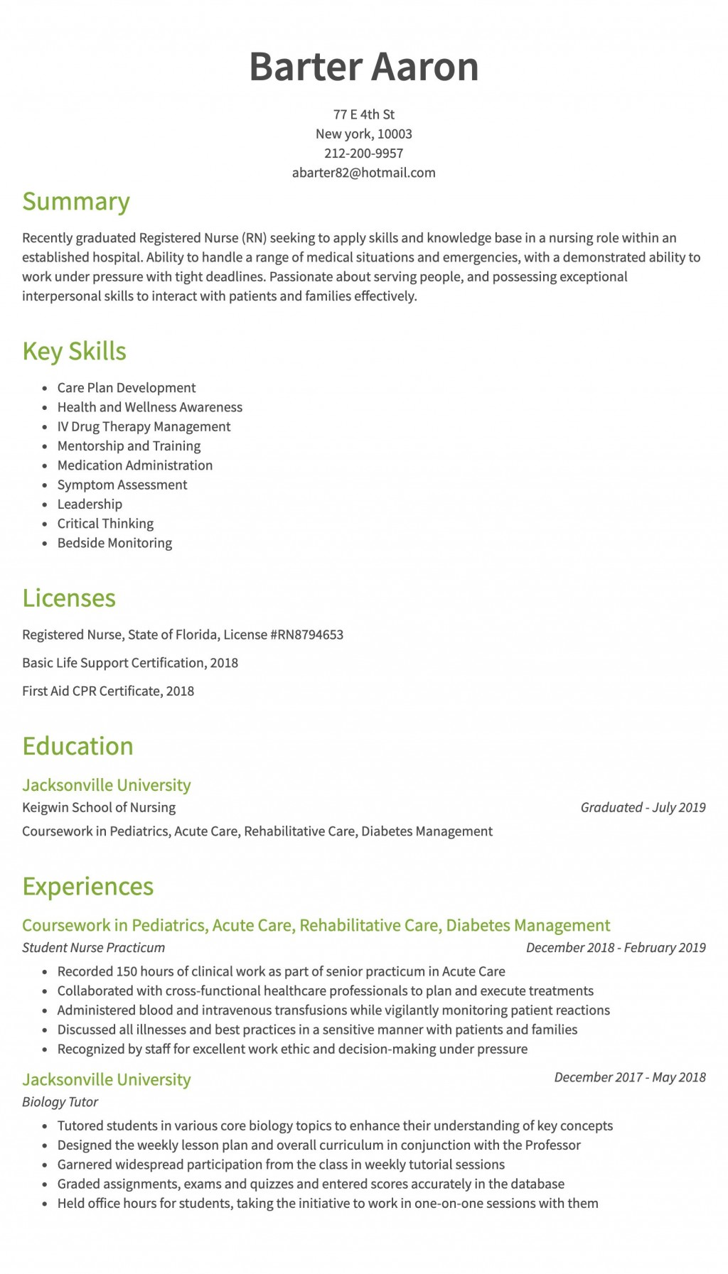 005 Phenomenal New Rn Resume Template High Resolution Large