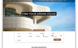 005 Phenomenal Real Estate Website Template Picture  Templates Free Download Bootstrap 4 Listing Wordpres