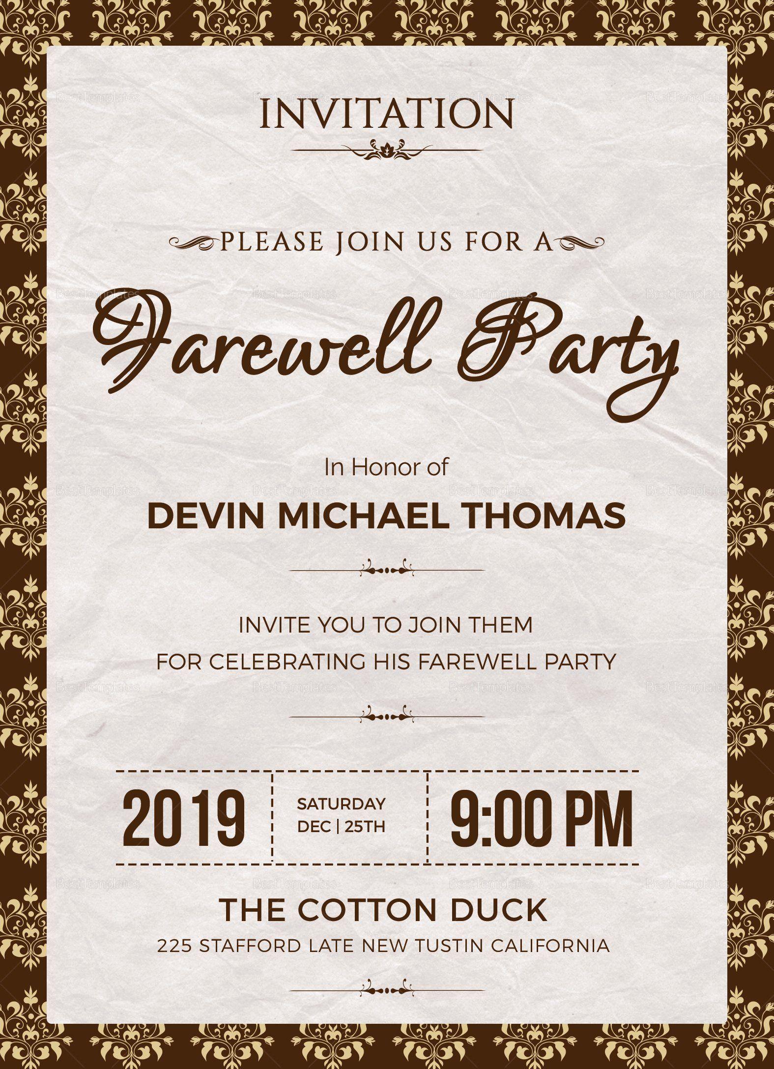 005 Phenomenal Retirement Party Invitation Template Free Printable Inspiration Full
