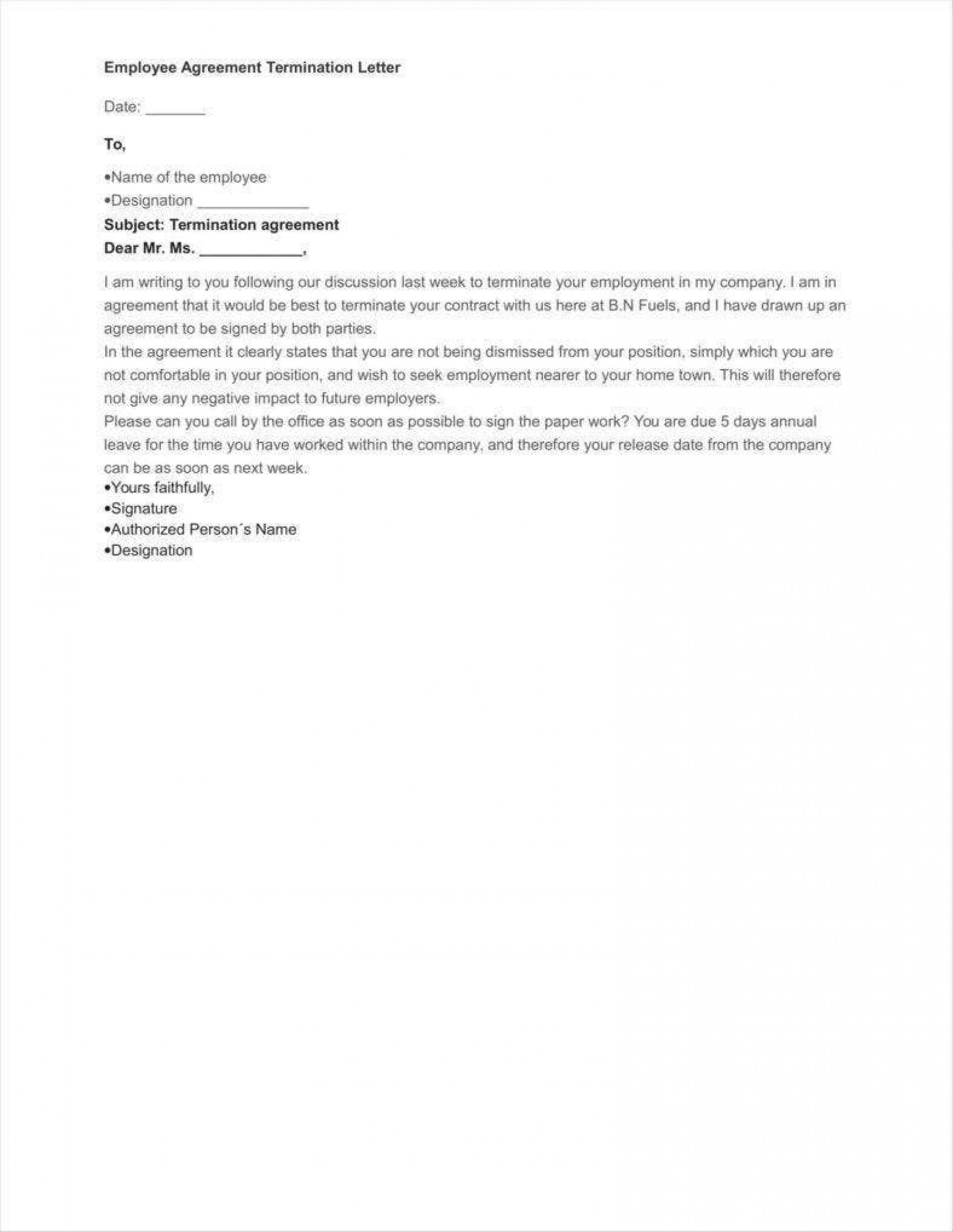 005 Phenomenal Sample Letter Of Agreement Template Design  For A In Project Prepare1920