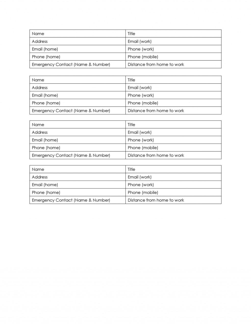 005 Phenomenal Travel Emergency Contact Card Template Design Large