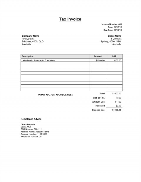 005 Phenomenal Word Invoice Template Free Inspiration  M Download480