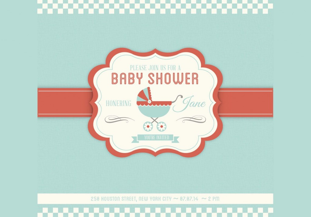 005 Rare Baby Shower Card Template Psd Idea Large