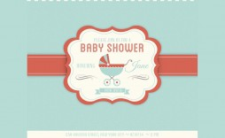 005 Rare Baby Shower Card Template Psd Idea